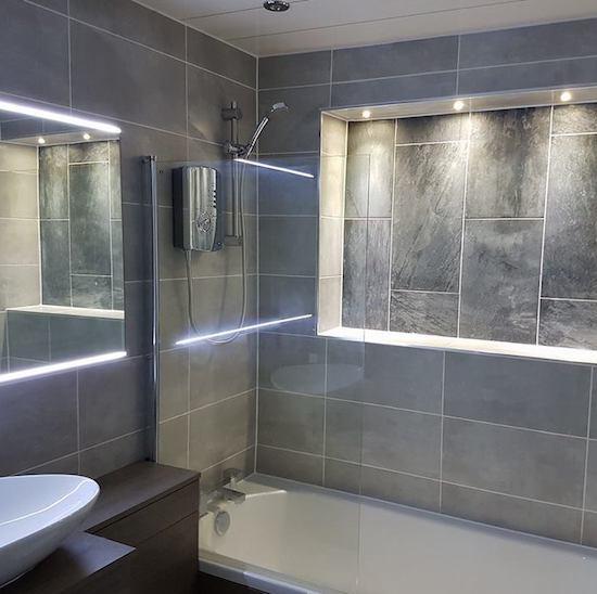 tiled bathroom in wimbledon