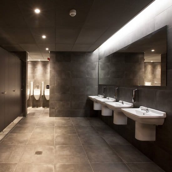 Commercial tiling of bathrooms in office