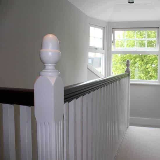 banistrade in white we professionally painted and decorated.
