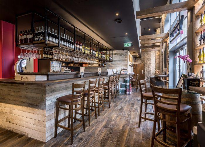 Interior of Veeno Wine Bar - St Pauls