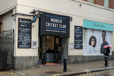 entrance to Munich cricket club in London